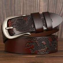 Кожаные ремни для мужчин, Лидер продаж! Ремень мужской из натуральной воловьей кожи, ширина 3,8 см, черный, кофейный, оранжевый