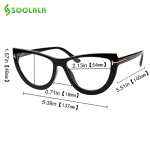 Image 5 - SOOLALA Spring Hinge Oversized Cat Eye Reading Glasses Womens Eyeglasses Frame Presbyopic Reading Glasses 0.5 0.75 1.0 to 5.0
