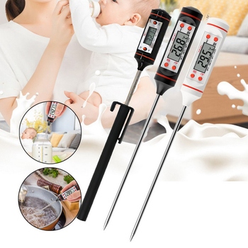 Meat Thermometer Digital BBQ Electronic Cooking Food  Water Milk Kitchen Available black and white