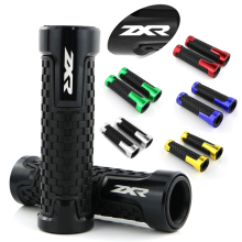 For Kawasaki ZX6R ZX-6R ZX7R ZX9R ZX-7R ZX-9R ZX-10R ZX-12R ZX14R Motorcycle CNC Aluminum and Rubber Handle Bar Grip