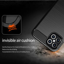 For iPhone 12 Pro Max Case Carbon Fiber Anti-knock Shockproof Silicone Case For iphone SE 2020 iphone 12 Pro Max 11 Pro X XS