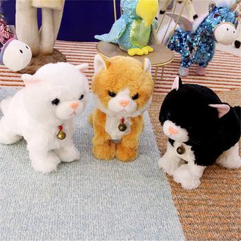 Pluszowy elektroniczny kot miękkie elektroniczne zwierzęta kontrola dźwięku Robot koty stojak spacer elektryczne zwierzęta słodkie zabawki interaktywne kot pluszowe zabawki tanie i dobre opinie HAPPY MONKEY Soft Electronic Pets Pp bawełna 5-7 lat 2-4 lat 8 ~ 13 Lat 11 cm-30 cm Zwierzęta i Natura Electronic cat
