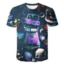 2020 new summer cartoon fnaf t shirt for boys print Five Nights At Freddy's t shirt Bonnie