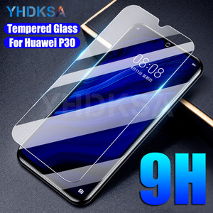 9H Tempered Glass For Huawei P30 P20 Lite P10 Lite Plus Screen Protector on the Huawei P Smart 2019 Z Protective Glass Film Case(China)