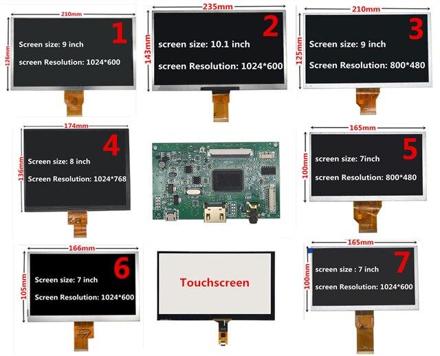 7/8/9/10,1 pantalla LCD TTL controlador HDMI Audio Control Tarjeta de controlador para Lattepanda Raspberry Pi Banana Pi