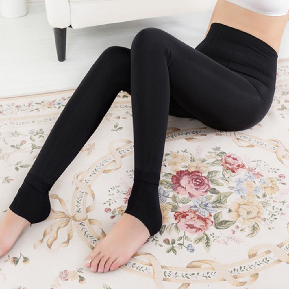 leggings   women Plus velvet thickening warmth Women's Winter Warm   Leggings   Ankle-Length Solid Pants High Waist Pants