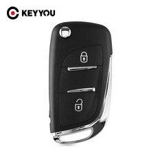 KEYYOU 2 botón modificado Flip de carcasa de llave a distancia de coche para Citroen C2 C3 C4 C5 C6 C8 Xsara Picasso CE0536