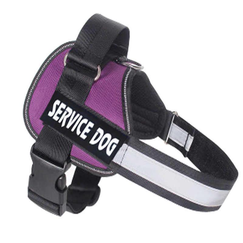 Arnés de Nylon ajustable para perros, collar reflectivo para perro, arnés personalizado para perros y conjunto de correa pequeño, mediano, grande