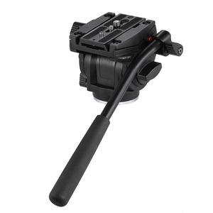 Image 4 - Kingjoy VT 3510 אלומיניום סגסוגת וידאו חצובה ראש 360 תואר פנורמי מצלמה Stand נוזל דעיכת בעל