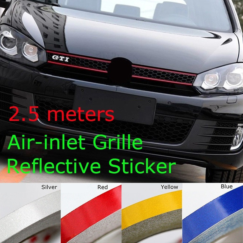 250*1cm Reflective Stripe Sticker Line Tape fit For Volkswagen CC <font><b>GOLF</b></font> <font><b>7</b></font> <font><b>Golf</b></font> 6 MK6 Polo <font><b>GTI</b></font> <font><b>VW</b></font> Tiguan Car styling image