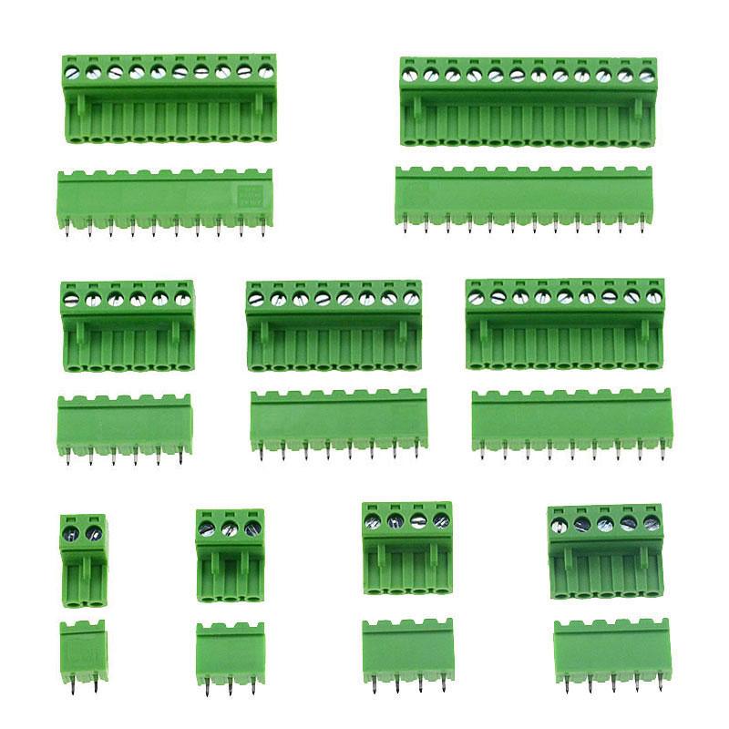 Connecteur PCB vis droite 300V 10A | Lot de 10 broches HT5.08 2 3 4 5 6 7 8 9 10 12 broches, bornier