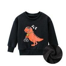 27 свитер с принтом динозавра для детей от 2 до 9 лет Осенняя детская верхняя одежда для мальчиков, толстовки с капюшоном, свитшоты для малышей, одежда Moleton Meninas