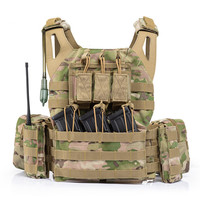 Combat Military Molle System Protect Tactical Vest Outdoor Army Training Hunting Airsofts Snipers Shooting Waistcoat Water Bag