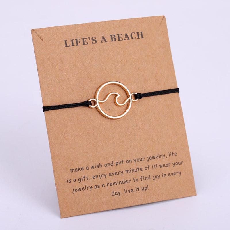 Ocean Wave Beach Adjustable Bracelets Conch Shells Octopus Mermaid Women Men Unisex Fashion Jewelry Summer Gift Drop Shipping