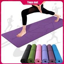 Professional Yoga Mat Home Gym Non-slip Gymnastics Mat Yoga Fitness Bodybuilding Exercise Dance Exercise Mat 183 * 61 * 0.6 CM olding panel gymnastics mat gym exercise fitness mat 2 4mx1 2mx3cm