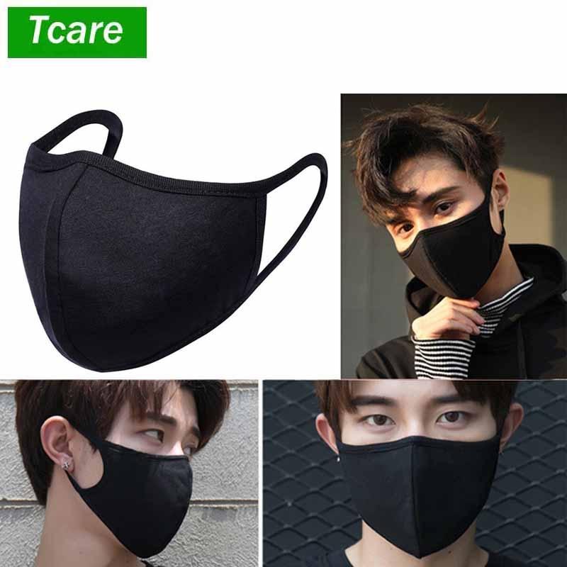 1Pcs PM2.5 Women Men MouthMask Black Thicken Cotton Smog Mask Warm Dust Mask Suitable For Fashion Unisex