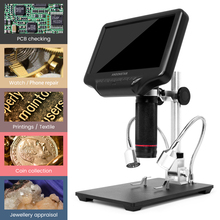 Andonstar Digital Microscope For Mobile Phone Repair 270X With 4MP UHD 7 Inch LCD Screen Adjustable LCD Screen USB Video