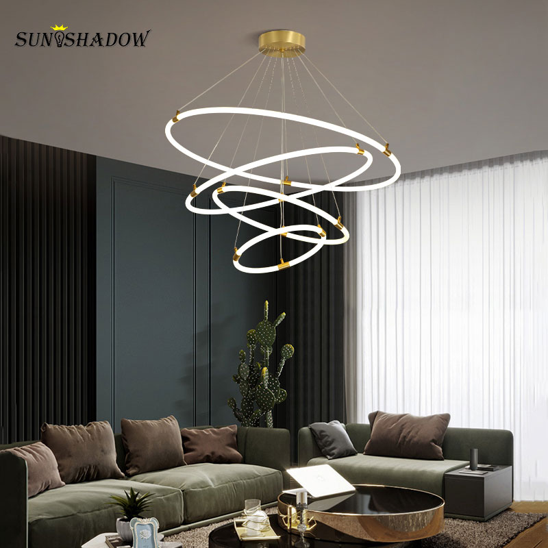 Acrylic Circle Rings Pendant Light ...