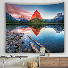купить Nature Landscape 3D Print Wall Hanging Tapestry Mountain Forest Sky Polyester Tapestries Home Decoration Bedspread Table Cloth дешево