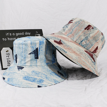 Hip hop Bucket Hat Reversible Sunt Hat Boonnie Fishing Hat Unisex Multi Color Travel Double-Sided Wearing Outdoor Cap image