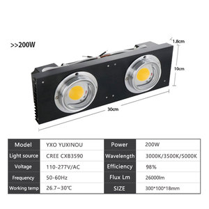 Image 5 - CREE CXB3590 100W 200W COB LED Grow Light Full Spectrum Replace HPS 200W 400W Lamp for Hydroponics indoor greenhouse tent plant