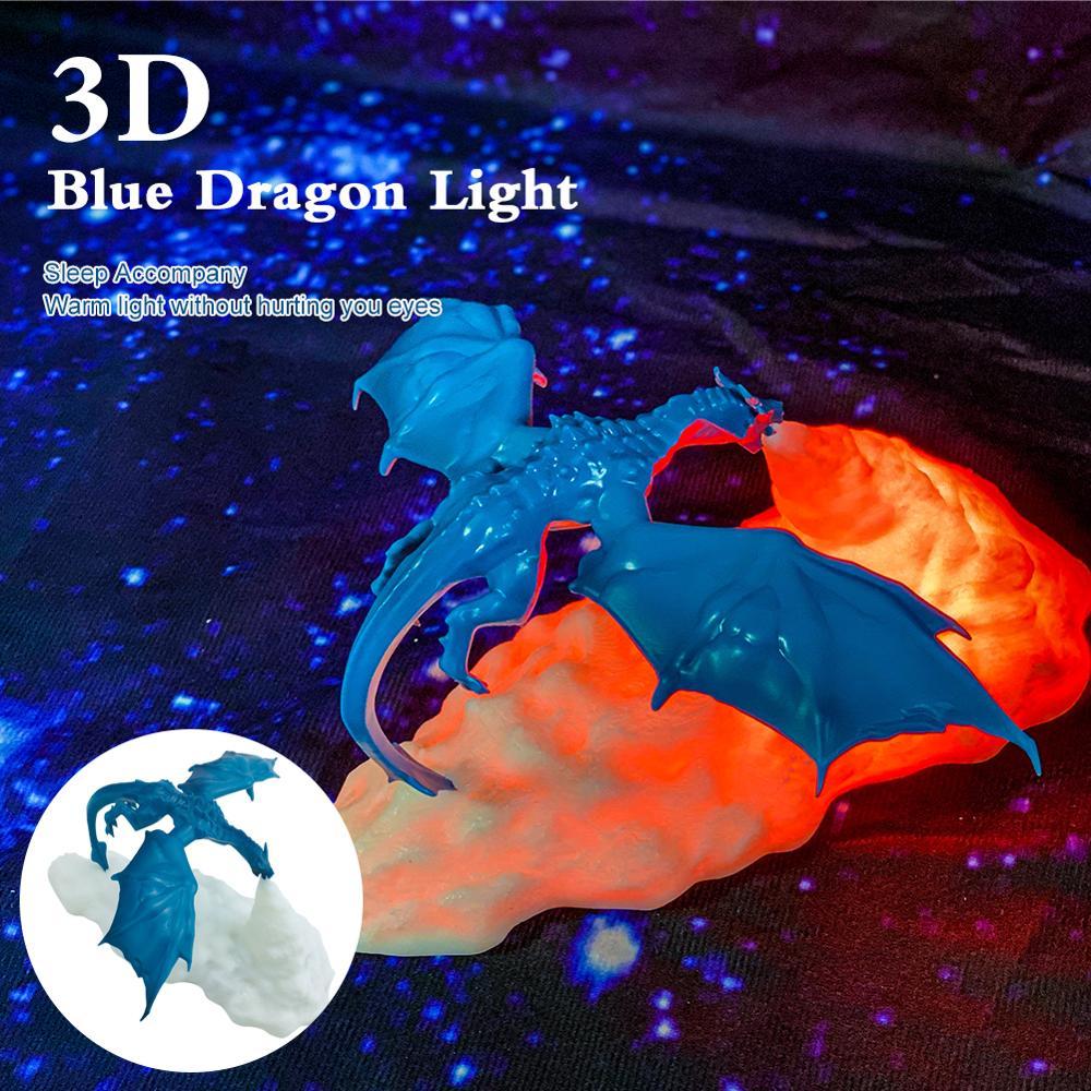 Lámparas LED de dragón impresas en 3D para el hogar, luz nocturna, gran oferta, mejor regalo para niños, 2020