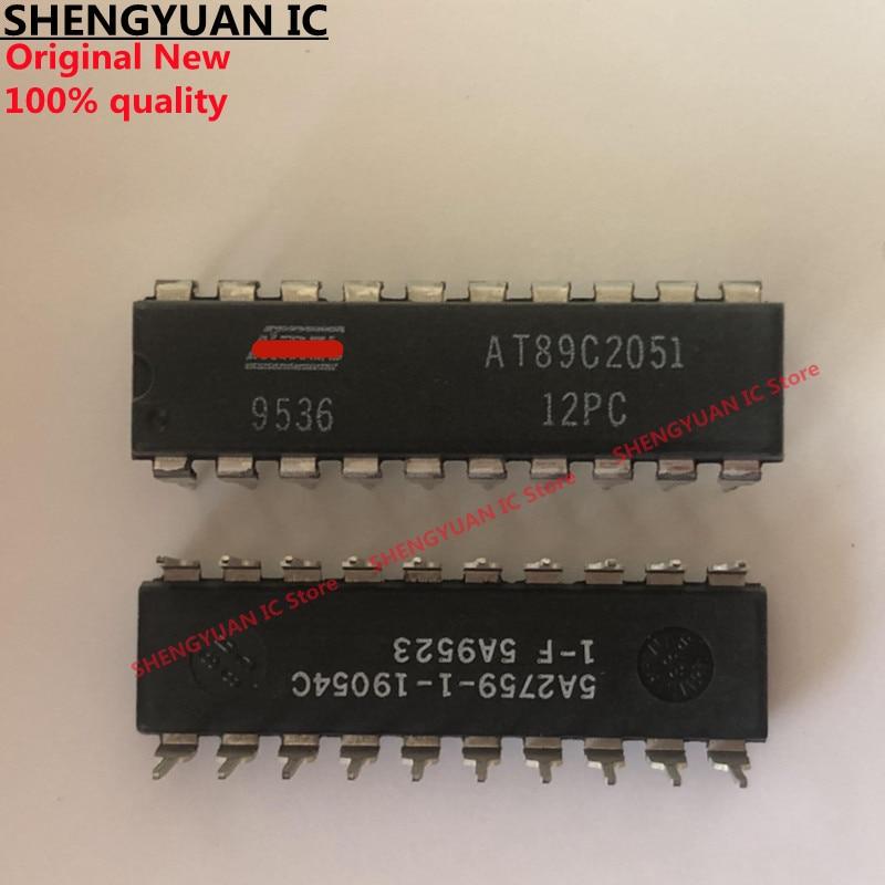 5 шт./лот AT89C2051-12PC DIP-20 AT89C2051 8-битный микроконтроллер с 2 к байт Flash 100% новая импортная оригинальная 100% качество