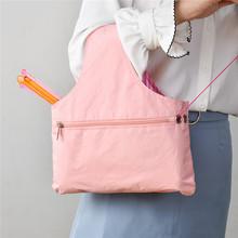 Knitting Tote Bag przędza do przechowywania organizator do małych projektów ekologiczna torba do przechowywania narzędzi do szycia przędzy tanie tanio Przędzy Przechowywania Wodoodporna pcv FH763827 Przechowywania Rolki i Torby Yarn Storage Bag