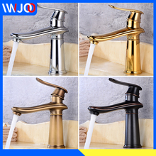 Bathroom Faucet Black Brass Gold Basin Faucet Cold and Hot Water Single Handle Hole Mixer Tap Toilet Washbasin Sink Faucet european retro drawing black washbasin bathroom faucet hot and cold faucet black bronze basin faucet lp 1