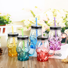 Halloween Skull Gradient Glass Cup Wine Glasses Drink Milk Cup Tea Cup Water Cup Cocktail Glass Halloween Decoration Wine Glass