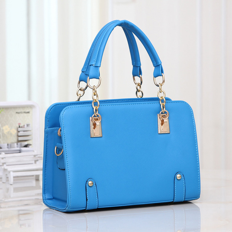 Lady Fresh Color Fashion Faux Leather Bag Hand Made All Match Autumn Winter Briefcase