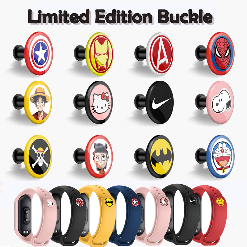Buckle For Xiaomi Miband 4 3 2 Mi Band 4 3 2 1 Strap Pattern Button Bracelet Miband 4 Limited Edition Wrist Strap Accessory