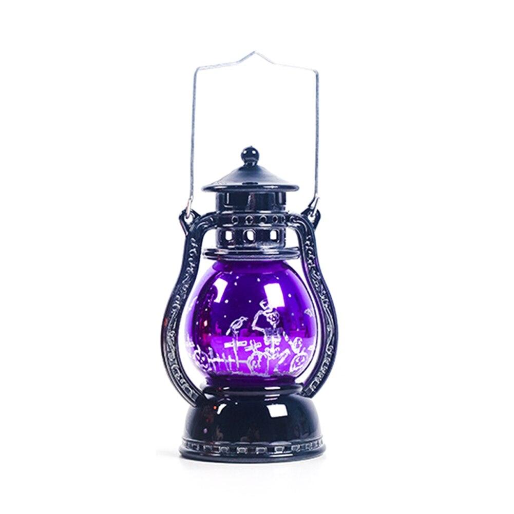 Винтажная ведьма летучая мышь принт Светодиодный лампа-фонарь для вечеринок Висячие Хэллоуин Декор создать страшную праздничную атмосферу подарки игрушки