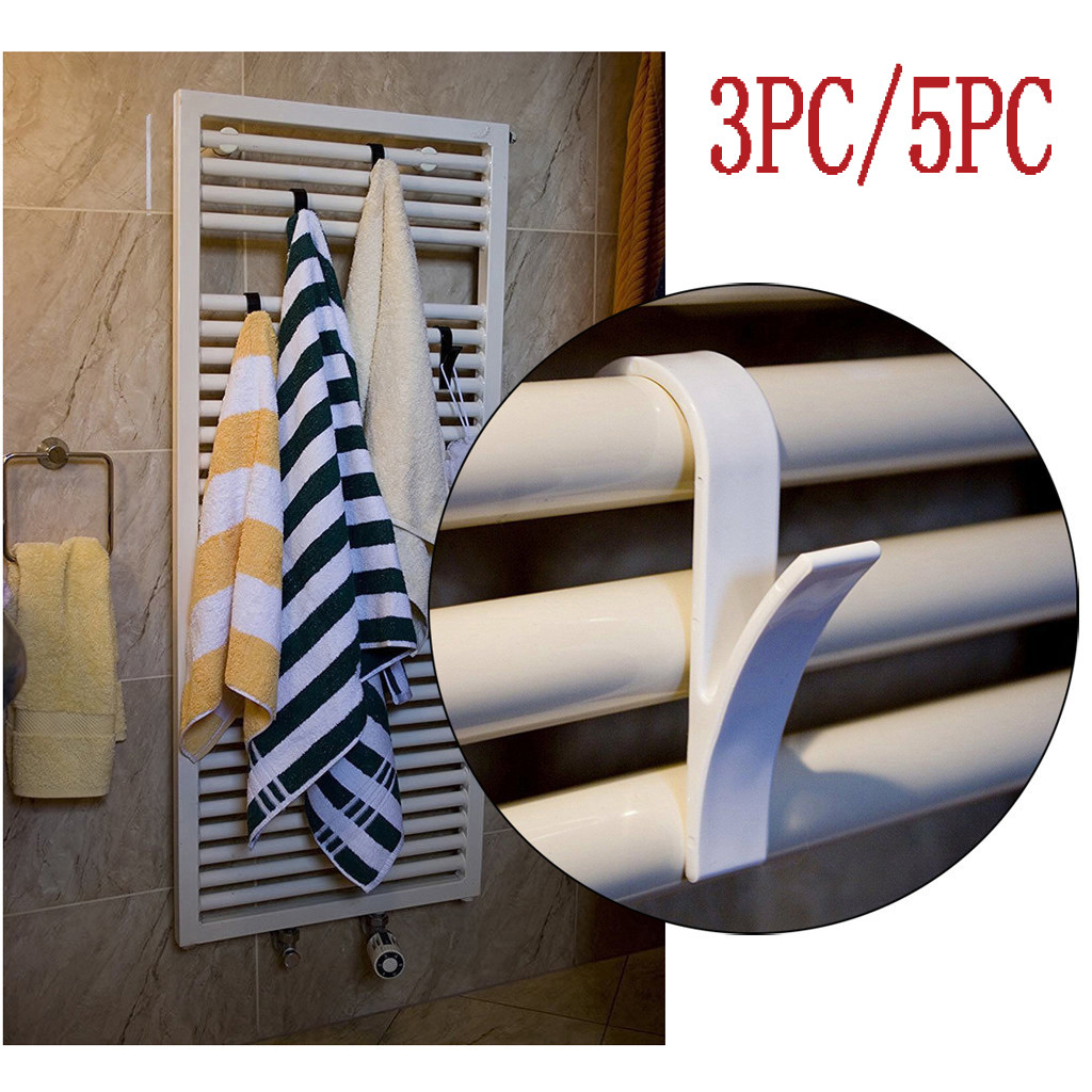 Best Selling 2020 Products 3PC/5PC High Quality Hanger For Heated Towel Radiator Rail Bath Hook Holder Drop Shipping  Wholesale