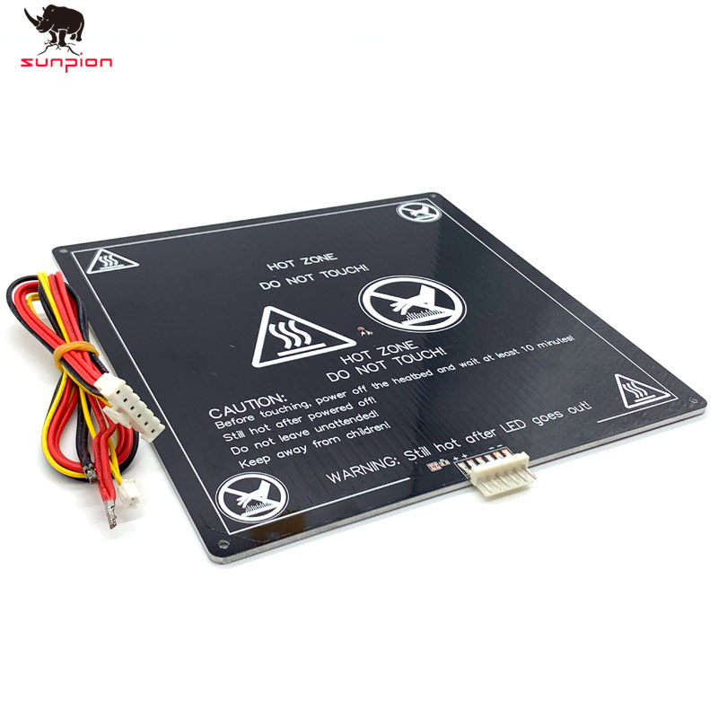 3D Printer Parts 1PCS Black MK3 220*220*3MM Hotbed Latest Aluminum Heated Bed For Hot-bed Support 12V180W 3d Printer Accessrioes