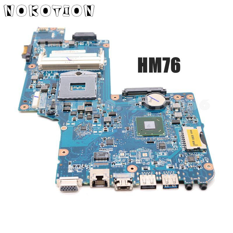 NOKOTION H000052590 For Toshiba Satellite C850 L850 Laptop Motherboard 15 6   HM76 HD4000 DDR3 Support i3 i5 i7
