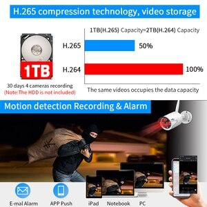 Image 5 - WIFI IP balle caméra 3MP 1536P 8CH NVR sans fil CCTV système de sécurité Kit infrarouge 4 pièces Cam visualisation à distance 1T HDD