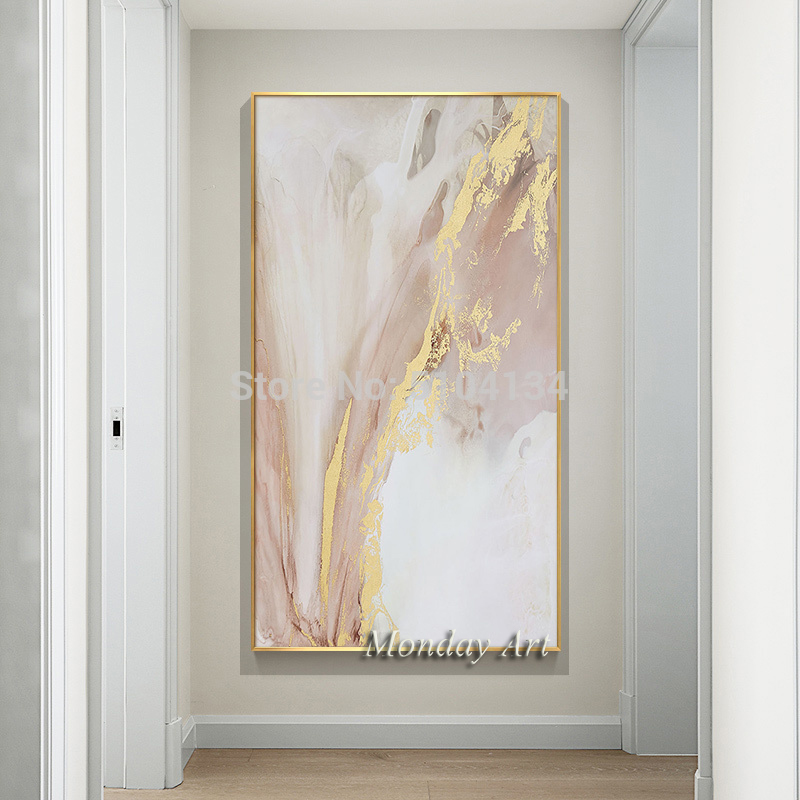 Hand-painted-Abstract-Gold-and-Pink-Color-Oil-Paintings-Modern-Canvas-Painting-Wall-Painting-for-Living (1)