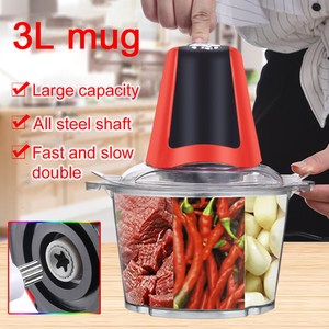 3L Automatic Powerful Electric Meat Grinder Multifunctional Food Processor Electric Mixter Chopper Meat Slicer Cutter Blender EU
