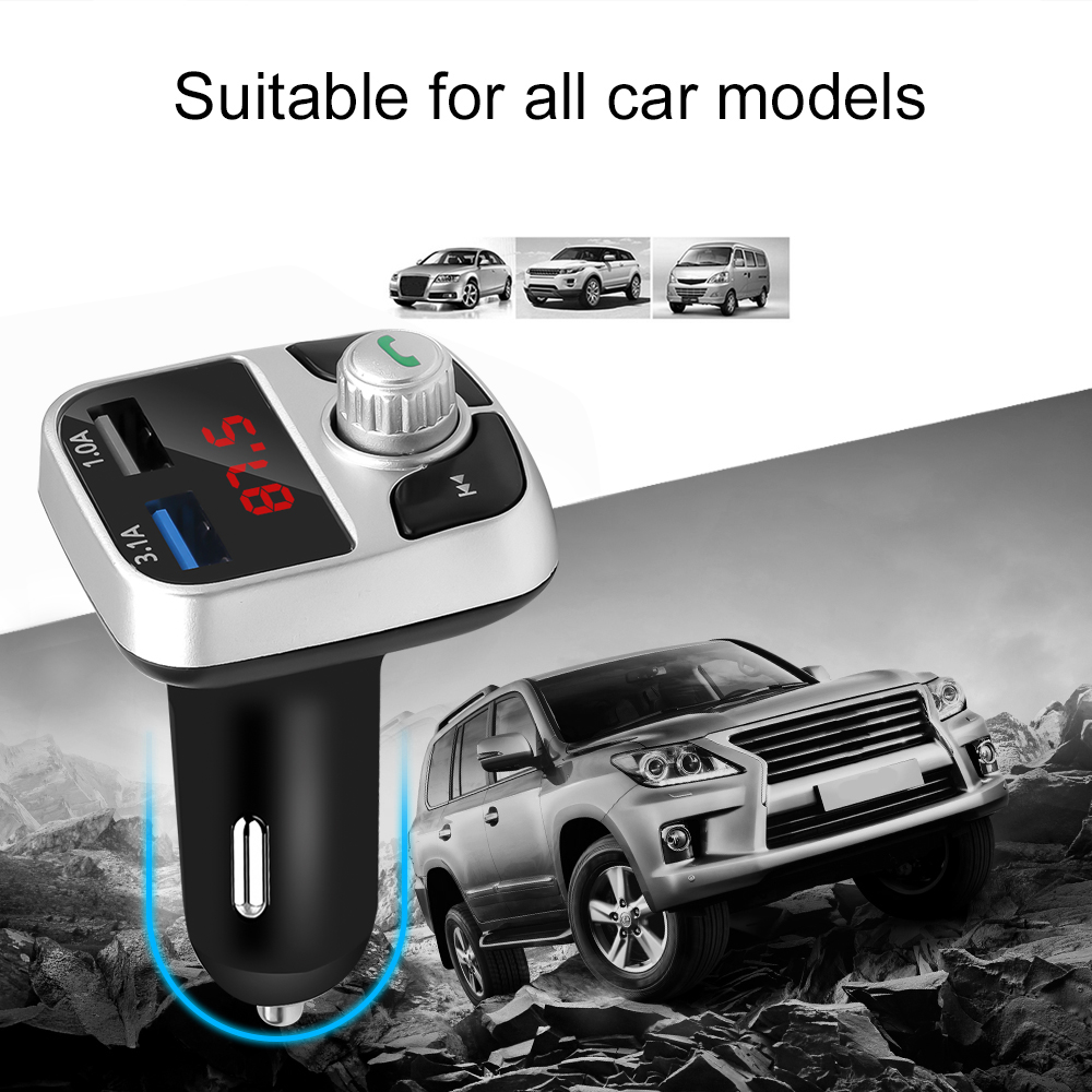 1x Auto FM Wireless Bluetooth Car MP3 Player Transmitter USB Charger Adapter Aux