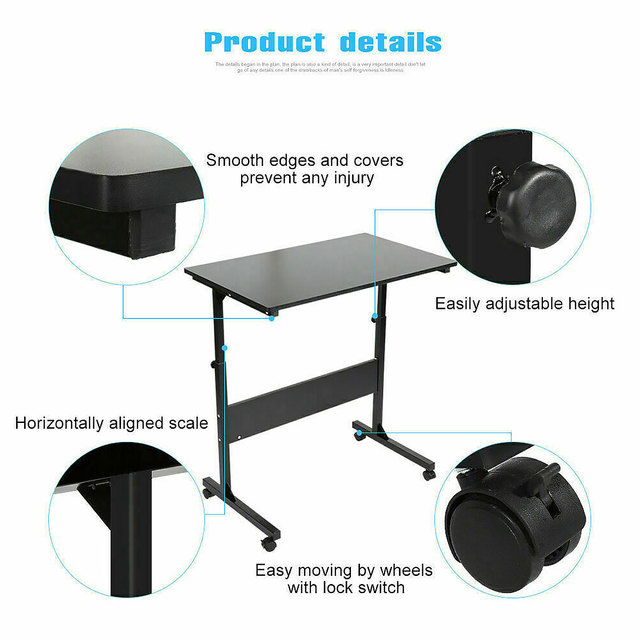 Adjustable Movable Laptop Stand Desk Portable Laptop Table Computer Desk Notebook Laptop Desk Can be Lifted Bed Side Table 2