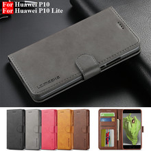 Case for P10-Lite Huawei P10 Lite-Cover Flip on Vintage P-10
