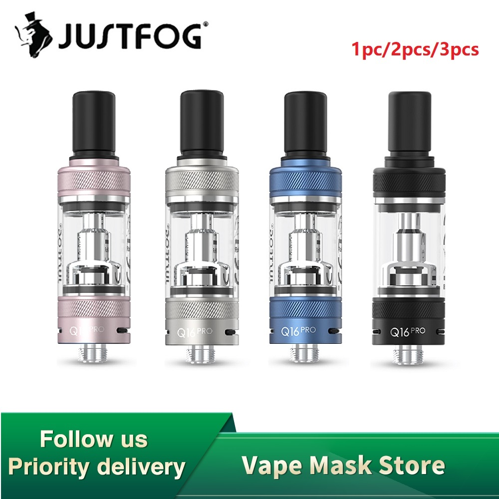 NEW Original JUSTFOG Q16 Pro Clearomizer With 1.9ml Capacity & 1.6ohm Coil Head 510 Thread E-cig Tank For JUSTFOG Q16 Pro Kit
