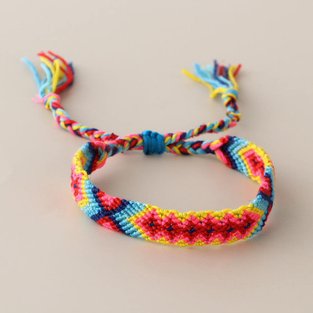 1PC Bohemia Style Friendship Bracelet Charm Vintage Handmade Braided Cotton Bracelet Ethnic Weave Rope Jewelry Gifts