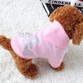 Dog clothes adidog 2020 new winter Pet clothes small and medium-sized dog Hoodies puppy clothing Sweatshirt for dogs 5