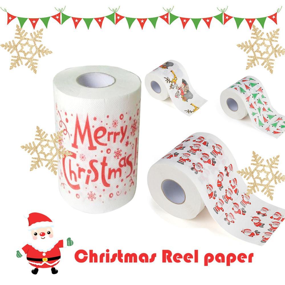 impression de Noël 1 rouleau de papier toilette du Père Noël motif de Noël