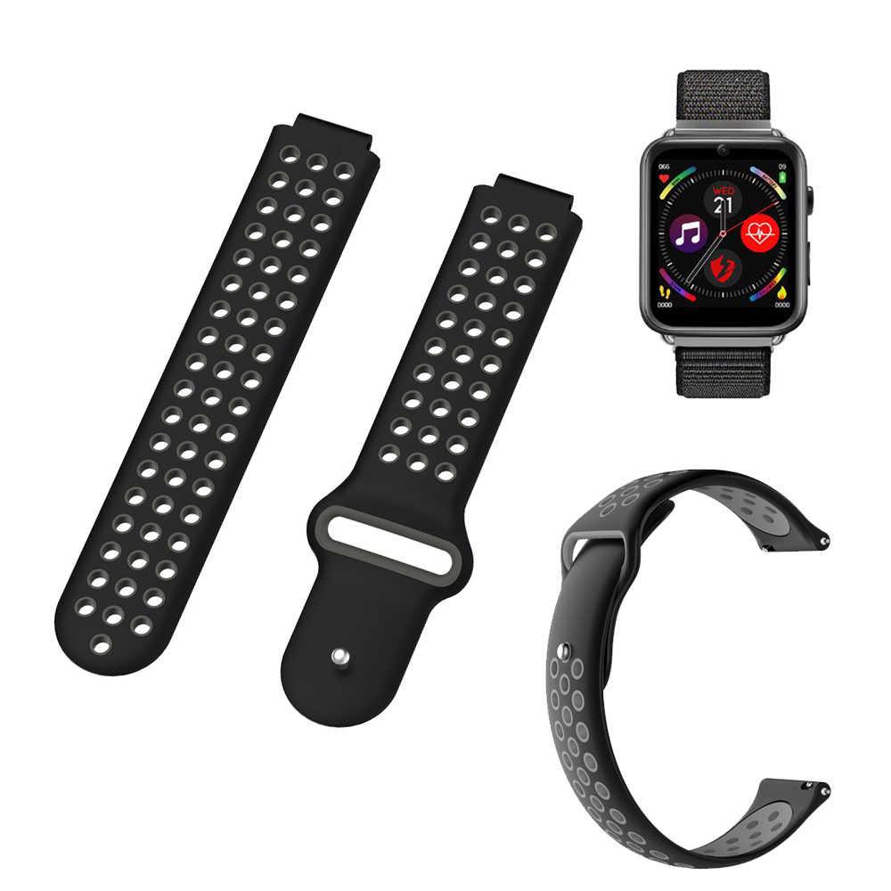 ل LEMFO LEM10 سيليكون استبدال حزام الساعات ل LEMFO LEM 10 Smartwatch اكسسوارات المعصم الفرقة حزام سيليكون مزدوجة