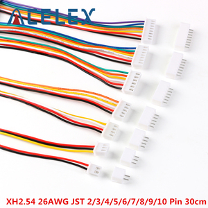 10Sets JST XH2.54 XH 2.54mm Wire Cable Connector 2/3/4/5/6/7/8/9/10 Pin Pitch Male Female Plug Socket 300mm Wire 26AWG(China)