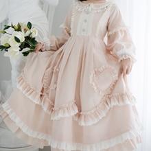 Розовое клетчатое платье в стиле Лолиты; женское платье в викторианском стиле; карнавальный костюм; мягкое милое платье феи для девочек; Loli Lol Cos; Милая девушка