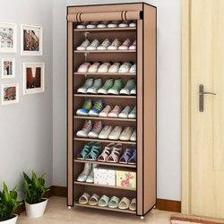 Домашняя Пылезащитная полка для обуви, Складывающийся шкаф для обуви из ткани, 4 слоя, 5 слоев, 6 слоев, 8 слоев, 10 слоев, органайзер для обуви